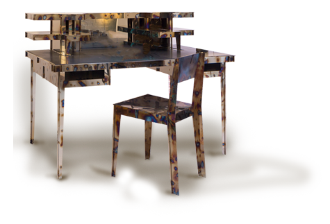 NSNG Metal Desk and Chair