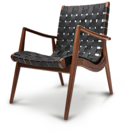 Woven Leather Armchair